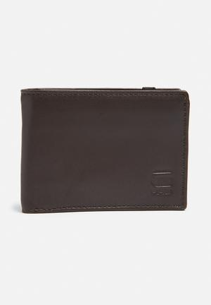 G-Star RAW Cart Leather Wallet Dark Brown