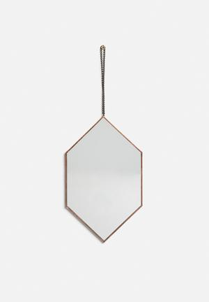 Arkivio Diamond Mirror - Copper Accessories Mirror