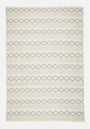 Sixth Floor Hexagon Knotted Rug 100% Cotton