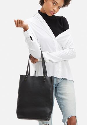 FSP Collection Heidi Leather Shopper Bags & Purses Black