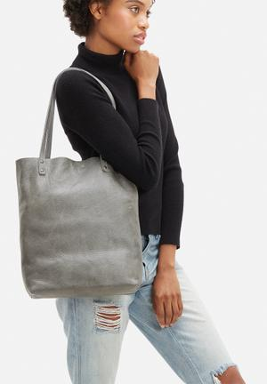 FSP Collection Heidi Leather Shopper Bags & Purses Grey