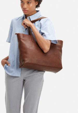 FSP Collection Rome Leather Tote Bags & Purses Brown