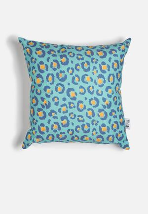 Sixth Floor Aquatic Jungle Printed Cushion Cotton Twill
