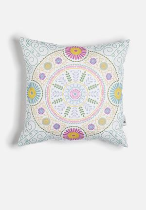 Sixth Floor Wanderlust Printed Cushion Cotton Twill