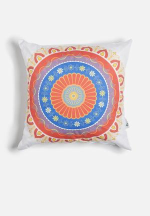 Sixth Floor Mandala Printed Cushion  Cotton Twill