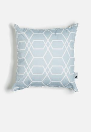Sixth Floor Linked Printed Cushion Cotton Twill