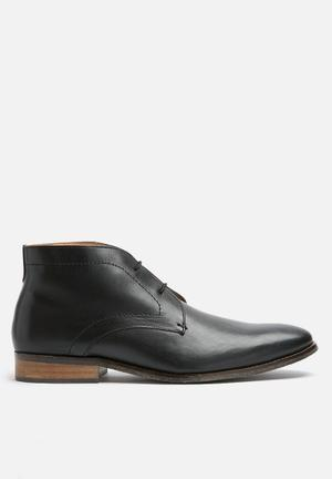 Watson Shoes Irvin Leather Boot Black