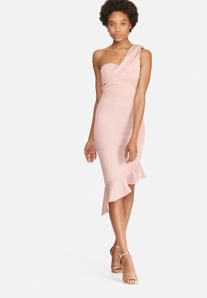 Dailyfriday One Shoulder Scuba Bodycon Dress Occasion Pink