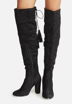Dailyfriday Over The Knee Lace-up Boot Black