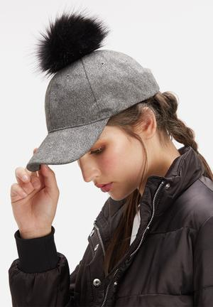 Dailyfriday Pom Pom Cap Headwear Grey