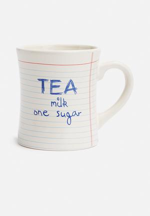 Temerity Jones Notebook Tea Mug Ceramic