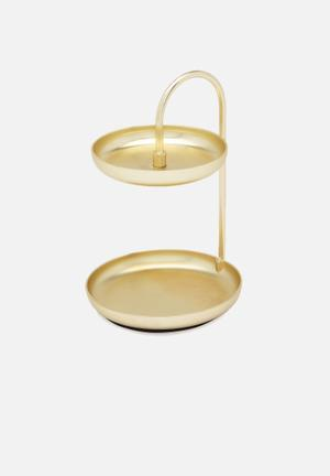 Umbra Poise Two Tier Ring Dish Organisers & Storage Plated Metal With Matte Finish