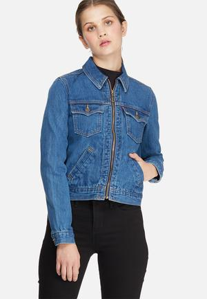 Levi's® Zip Front Trucker Jacket Blue