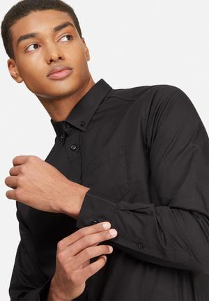 Basicthread Regular Fit Poplin Shirt Black