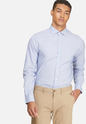 Basicthread Slim Fit Formal Shirt Blue