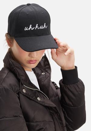 Vintage Lover Uh Huh Cap Headwear Black