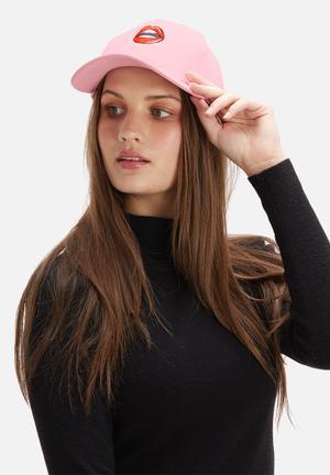 Vintage Lover Lips Cap Headwear Pink
