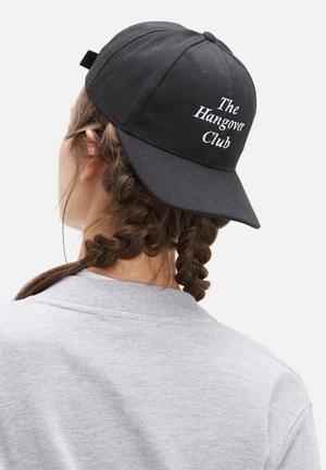 Vintage Lover Hangover Club Cap Headwear Black
