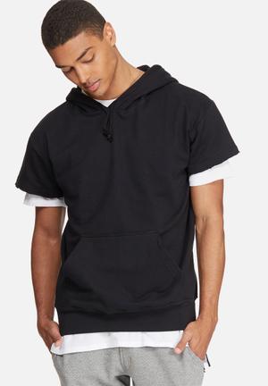 Basicthread Cap Sleeve Pullover Hoodie Hoodies & Sweatshirts Black
