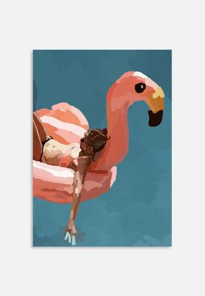 Sarah Allderman Flamingo Art