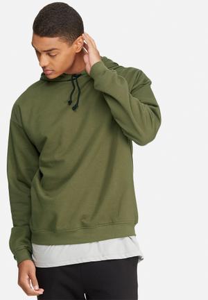 Basicthread Oversized Pullover Hoodie Sweat Hoodies & Sweatshirts Olive
