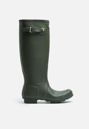 Hunter Original Tall Matte Boots Olive