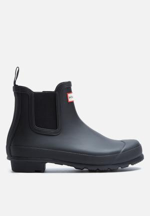 Hunter Original Chelsea Matte Boots Black