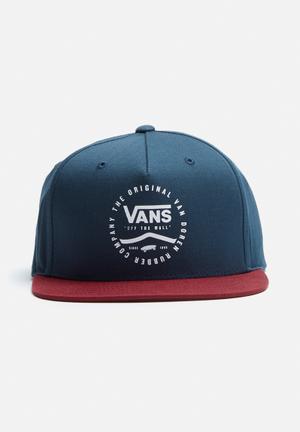 Vans Side Stripe Snapback Headwear Navy, Burgundy & White