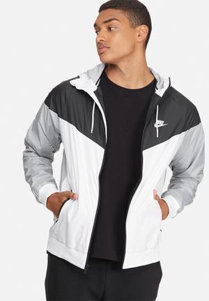 Nike Nike Windrunner Jackets White, Black & Grey