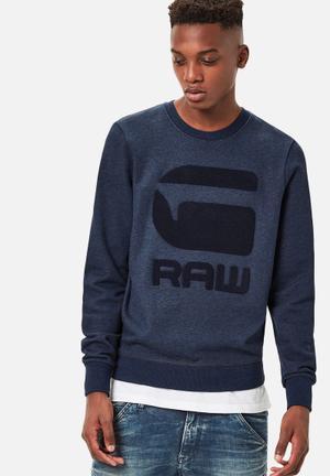 G-Star RAW Yster Sweater Hoodies & Sweatshirts Blue