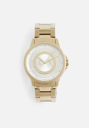 Armani Exchange Dress Watch Gold