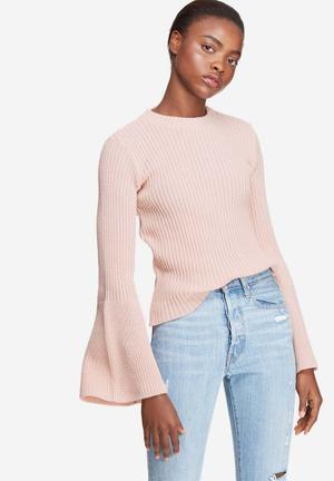 Dailyfriday Fluted Sleeve Knit Knitwear Pink