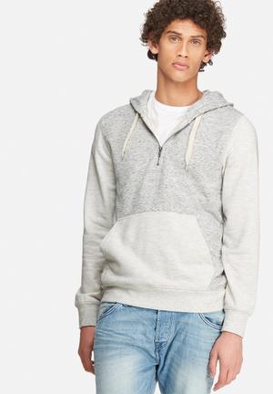 Jack & Jones Originals Japan Hood Sweat Hoodies & Sweatshirts Grey Melange