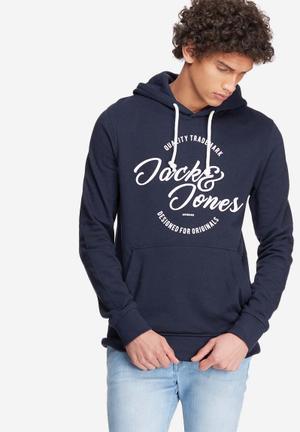 Jack & Jones Originals Raffa Hood Sweat Hoodies & Sweatshirts Navy