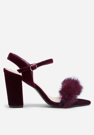 Footwork Heather Heels Burgundy