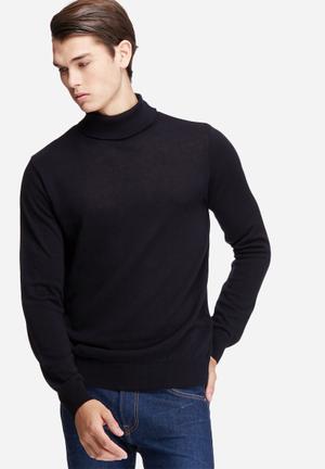 Basicthread Basic Roll Neck Pullover Knitwear 100% Acrylic