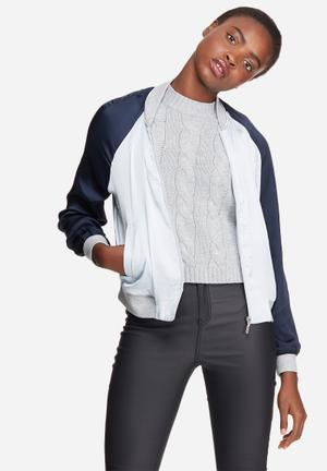 Vero Moda Nicole Bomber Jacket Navy & Light Blue