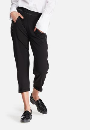 Dailyfriday Tuxedo Formal Pants Trousers Black