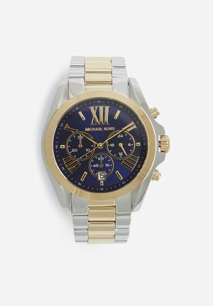 Michael Kors Bradshaw Watches Silver, Gold & Blue