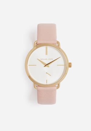 Michael Kors Portia Watches Pink & Gold