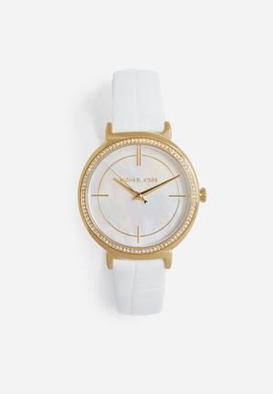 Michael Kors Cinthia Watches White & Gold