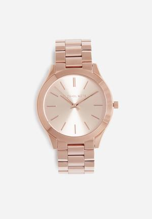 Michael Kors Slim Runway Watches Rose Gold
