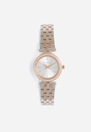 Michael Kors Darci Mini Watches Silver & Rose Gold