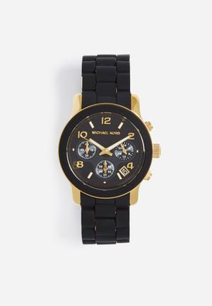 Michael Kors Runway Watches Black & Gold