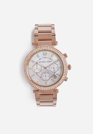 Michael Kors Parker Watches Rose Gold