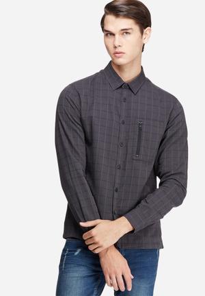 Jack & Jones CORE Moon Slim Fit Shirt Charcoal