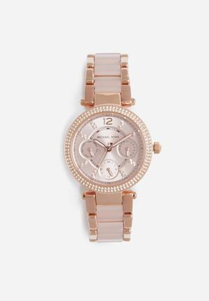 Michael Kors Parker Mini Watches Rose Gold & Blush