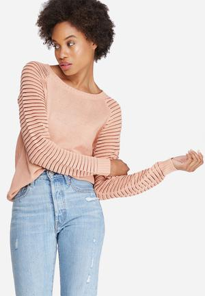 Pieces Laura Knit Knitwear Dusty Pink