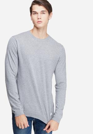 Only & Sons Alexander Crew Neck Knit Knitwear Grey