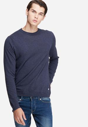 Only & Sons Alexander Crew Neck Knit Knitwear Navy